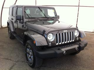 Used 2018 Jeep Wrangler JK Unlimited Sahara NAVIGATION, FACTORY REMOTE STARTER, BODY COLOR 3 PIECE HARD TOP, BLUETOOTH for sale in Ottawa, ON