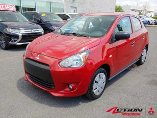 Used 2015 Mitsubishi Mirage ES PLUS | CAM RECUL | BLUETOOTH | A/C | FULL ÉQUIP for sale in St-Hubert, QC