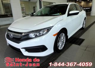 Used 2016 Honda Civic LX 4 portes CVT A/C Camera Bluetooth for sale in St-Jean-Sur-Richelieu, QC