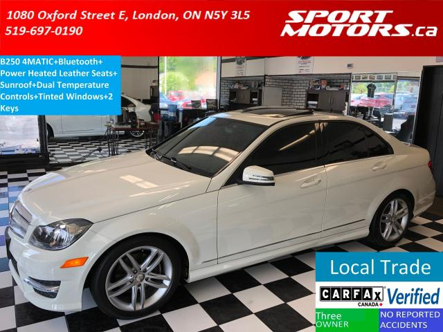 2012 Mercedes-Benz C-Class C250 4MATIC+Sunroof+Bluetooth+Heated Leather