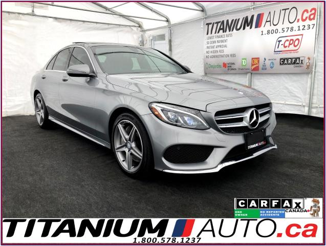 2016 Mercedes-Benz C-Class AMG PKG+4Matic+GPS+Camera+Pano SunRoof+Blind Spot+