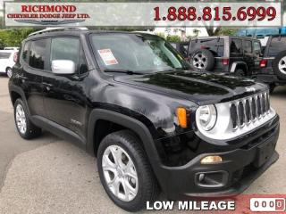 Used 2018 Jeep Renegade Limited for sale in Richmond, BC