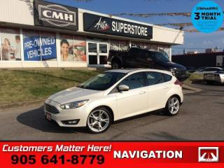 Used 2015 Ford Focus Titanium  NAV LEATH ROOF CAM HS P/SEAT ALLOYS for sale in St. Catharines, ON
