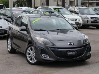 Used 2010 Mazda MAZDA3 GT, ONE-OWNER, NO-ACCIDENT, BLUETOOTH,FULLY LOADED for sale in Mississauga, ON