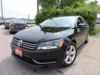 Used 2015 Volkswagen Passat LEATHER | SUNROOF | REV CAM | HTD SEATS for sale in BRAMPTON, ON
