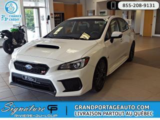 Used 2019 Subaru Impreza WRX STi Sport-tech Aileron STI *Comme Neuf* for sale in Rivière-Du-Loup, QC