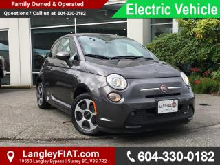 Used 2016 Fiat 500 E ONE OWNER, NO ACCIDENTS! for sale in Surrey, BC