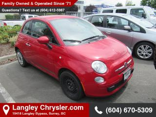 Used 2015 Fiat 500 Pop - Power Windows - Low Mileage for sale in Surrey, BC