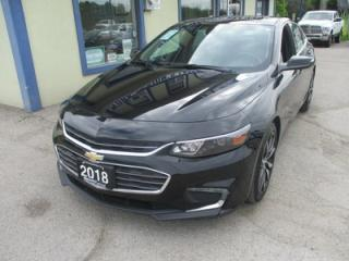 Used 2018 Chevrolet Malibu LIKE NEW LT MODEL 5 PASSENGER 1.5L - ECO-TEC.. BACK-UP CAMERA.. POWER SUNROOF.. BLUETOOTH.. AUX/USB INPUT.. for sale in Bradford, ON