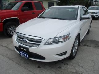Used 2011 Ford Taurus ALL-WHEEL DRIVE LIMITED EDITION 5 PASSENGER 3.5L - V6.. LEATHER.. HEATED/AC SEATS.. NAVIGATION.. POWER PEDALS.. POWER SUNROOF.. BACK-UP CAMERA.. for sale in Bradford, ON