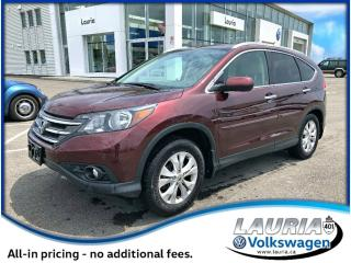 Used 2013 Honda CR-V 2.4L AWD Touring - VERY LOW KMS for sale in PORT HOPE, ON