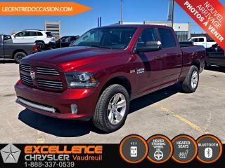 Used 2017 RAM 1500 Sport CREW 4x4 *CUIR/CAMERA/GROUPE CHAUF for sale in Vaudreuil-Dorion, QC