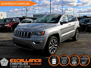 Used 2018 Jeep Grand Cherokee LIMITED 4X4 *CUIR/TOIT/NAV/CAMERA* for sale in Vaudreuil-Dorion, QC