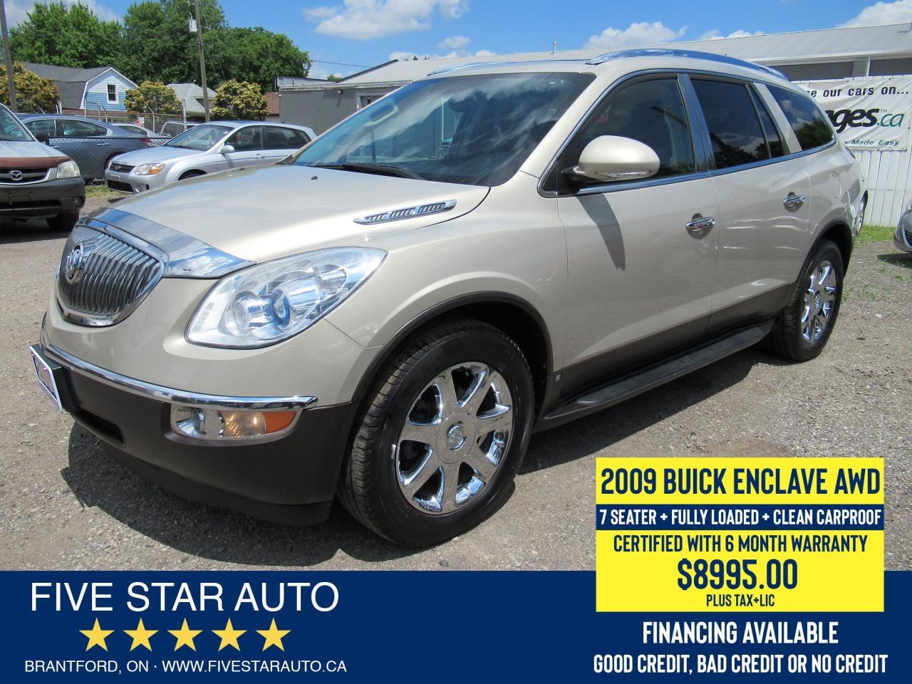 2009 Buick Enclave CXL *Clean Carproof* Certified w/ 6 Month Warranty