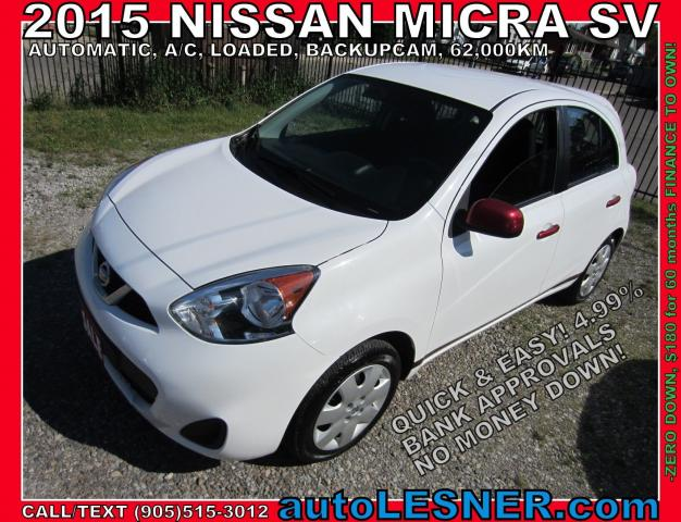 2015 Nissan Micra -SOLD!