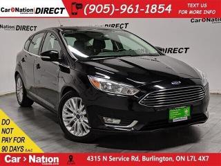 Used 2018 Ford Focus Titanium| LEATHER| SUNROOF| NAVI| for sale in Burlington, ON
