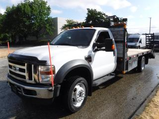 Used 2009 Ford F-550 Regular Cab 4WD Dually Diesel 14 foot Flat Deck for sale in Burnaby, BC