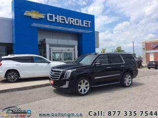 Used 2017 Cadillac Escalade Premium  - Leather Seats for sale in Bolton, ON