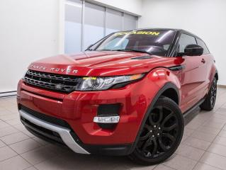 Used 2014 Land Rover Evoque DYNAMIC AWD CUIR NAV INT ROUGE ET NOIR *TOIT PANO* for sale in St-Jérôme, QC