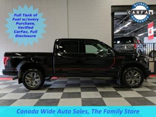 Used 2017 Ford F-150 4X4 Crew Cab, Lariat, Navigation, Panoramic Sunroof, Heated/Cooled Seats for sale in Edmonton, AB