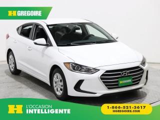 Used 2017 Hyundai Elantra LE A/C GR ELECT for sale in St-Léonard, QC