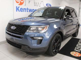 Used 2019 Ford Explorer Sport 4WD ecoboost, NAV, sunroof, heated/cooled power leather seats, heated steering wheel, power liftgate, power third row seats for sale in Edmonton, AB