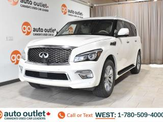 Used 2015 Infiniti QX80 8 PASSENGER SEATING, AWD, NAVIGATION, HEATED/COOLED FRONT SEATS, BACKUP CAMERA, SUNROOF for sale in Edmonton, AB