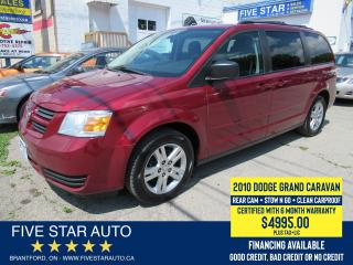 Used 2010 Dodge Grand Caravan SE *Clean Carproof* Certified w/ 6 Month Warranty for sale in Brantford, ON