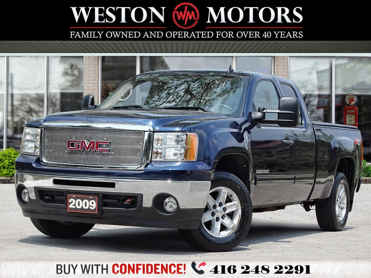2009 GMC Sierra 1500 SLE*4X4*SUNROOF*EXT CAB*TOW PKG*ONLY 53KMS*