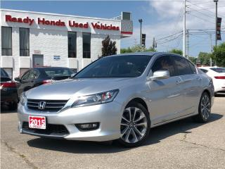 Used 2015 Honda Accord Sedan Sport - Sunroof - Rear Camera - for sale in Mississauga, ON