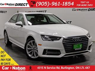 Used 2018 Audi A4 2.0T Progressiv quattro| NAVI| SUNROOF| for sale in Burlington, ON