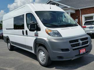 Used 2018 RAM 3500 ProMaster 3500 Extended, High Roof, Bluetooth, Back Up Cam/Sensors, 3 Passenger for sale in Paris, ON