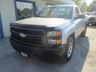 Used 2015 Chevrolet Silverado 1500 WORK READY LS MODEL 3 PASSENGER 4.3L - V6.. 4X4.. REGULAR CAB.. 8-FOOT BOX.. TOW SUPPORT.. AUX/USB INPUT.. for sale in Bradford, ON