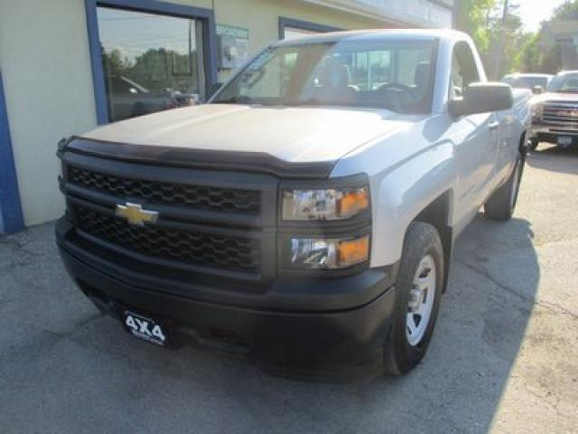 2015 Chevrolet Silverado 1500 WORK READY LS MODEL 3 PASSENGER 4.3L - V6.. 4X4.. REGULAR CAB.. 8-FOOT BOX.. TOW SUPPORT.. AUX/USB INPUT..