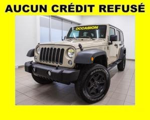 Used 2017 Jeep Wrangler **RÉSERVÉ** UNLIMITED SPORT 4X4 TOIT DUR MAGS NOIR for sale in Mirabel, QC