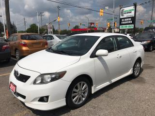 Used 2010 Toyota Corolla S l Alloy Wheels l Power Locks and Trunk for sale in Waterloo, ON