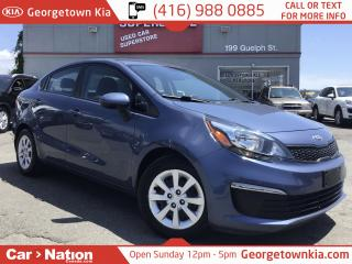 Used 2016 Kia Rio LX+ | HEATED SEATS | BLUETOOTH | 1 OWNER for sale in Georgetown, ON