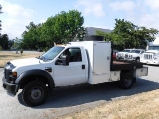 Used 2009 Ford F-550 Regular Cab 4WD DUALLY 7 foot flat deck Diesel for sale in Burnaby, BC