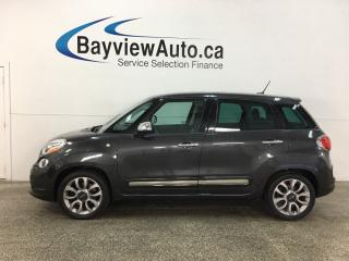 Used 2015 Fiat 500 L Lounge - AUTO! HTD LEATHER! PANOROOF! NAV! ALLOYS! + MUCH MORE! for sale in Belleville, ON