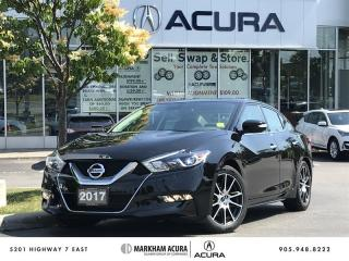 Used 2017 Nissan Maxima Platinum CVT Pano Roof, 360 Cam, Bose Audio for sale in Markham, ON