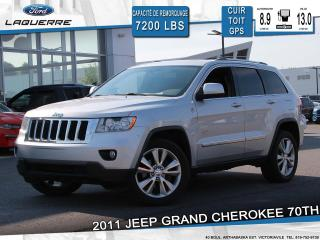 Used 2011 Jeep Grand Cherokee 70e ANNIVERSAIRE**AWD*CUIR*TOIT*CAMERA*BLEUTOOTH* for sale in Victoriaville, QC