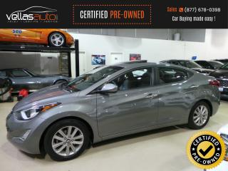 Used 2014 Hyundai Elantra GLS  SUNROOF  R/CAMERA  HEATED SEATS for sale in Vaughan, ON