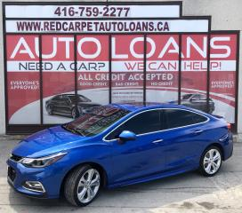 Used 2016 Chevrolet Cruze Premier Auto PREMIER-ALL CREDIT ACCEPTED for sale in Scarborough, ON