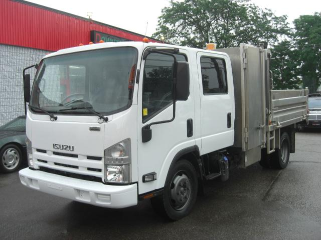 2014 Isuzu NQR Dump Truck Crew Cab Dually