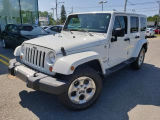 Used 2013 Jeep Wrangler 4WD SAHARA UNLIMITED, 2 TOITS,NAVI+ for sale in Blainville, QC