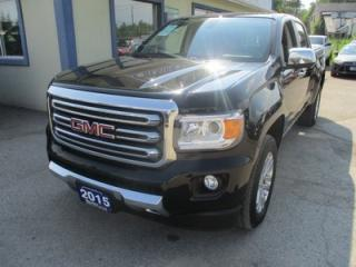 Used 2015 GMC Canyon LIKE NEW SLT EDITION 5 PASSENGER 3.6L - V6.. 4X4.. CREW.. SHORTY.. LEATHER.. HEATED SEATS.. BACK-UP CAMERA.. for sale in Bradford, ON