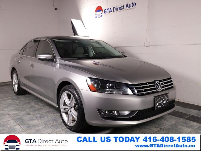 2013 Volkswagen Passat TDI Sunroof Leather Heated Alloys Btooth Certified