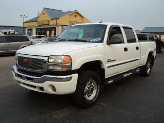 Used 2003 GMC Sierra 2500 SLT CrewCab 4x4 6.6 DuramaxDiesel 6.6ft Box for sale in Brantford, ON