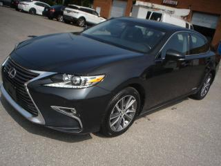 Used 2016 Lexus ES 300 HYBRID,ACCIDENT FREE,BLK/BLK for sale in Mississauga, ON