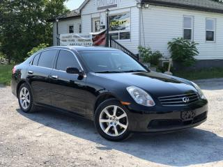 Used 2006 Infiniti G35 No Accidents LOW KMS AWD Leather Sunroof Bose Audio for sale in Sutton, ON